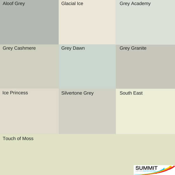 Interior top grey picks from our house painters North Shore at Summit Coatings