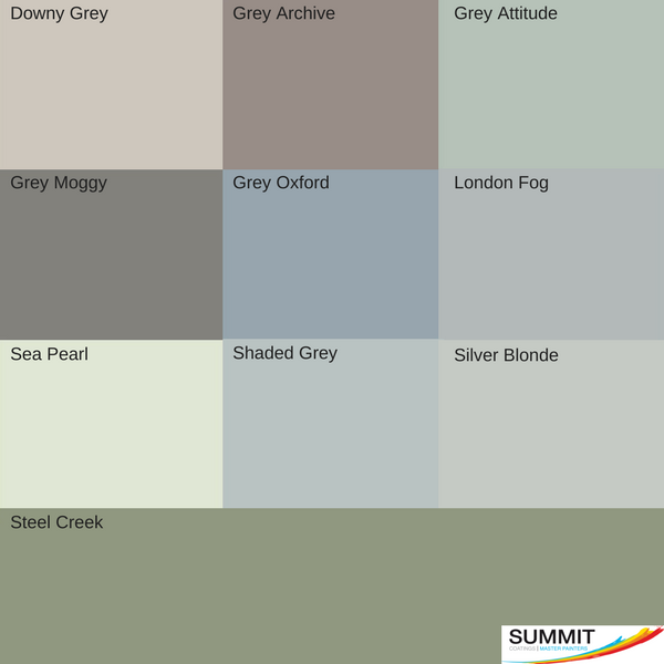 Exterior top grey picks from our house painters North Shore at Summit Coatings